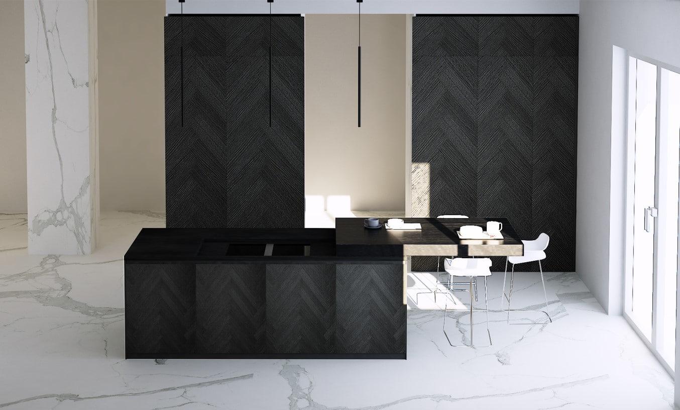 Cucine Moderne di Lusso: Progetto Binova Bluna+Mantis+Scava