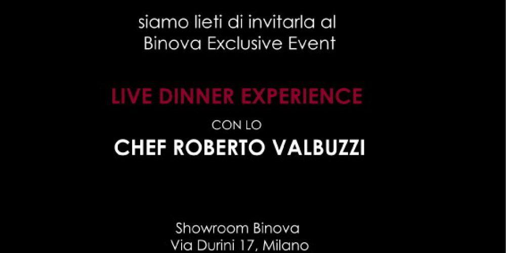 Live Dinner Experience con lo Chef Roberto Valbuzzi